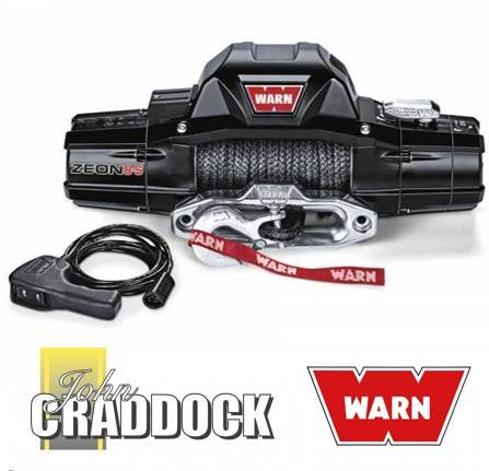 89670: Warn Zeon 8S 8000LB ( 3630KG ) 12V Winch [synthetic Rope]