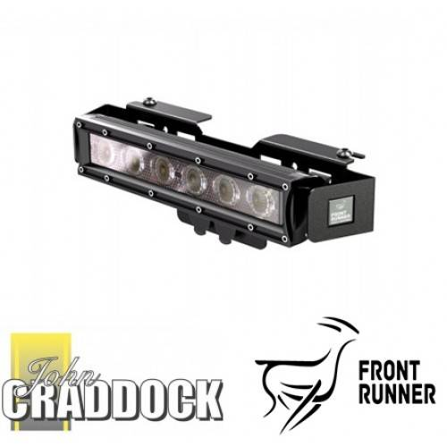 Winch Bumper With Led Lights By Rovers North For Discovery: Front Runner Led 10 Inch Light Bar Inc Bkt