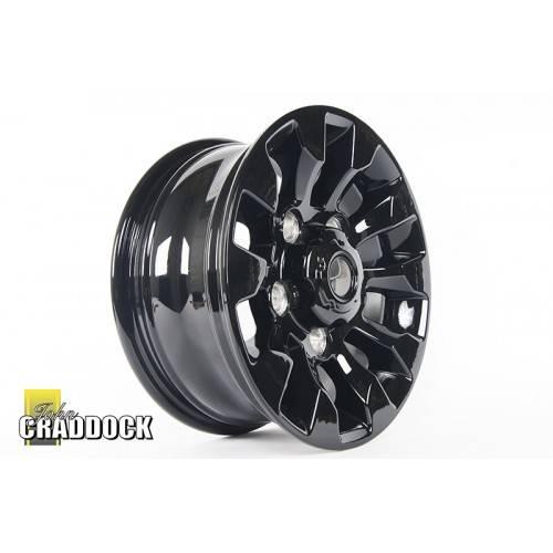 Lr025862 Replica Saw Tooth 7x16 Gloss Black Alloy Wheel