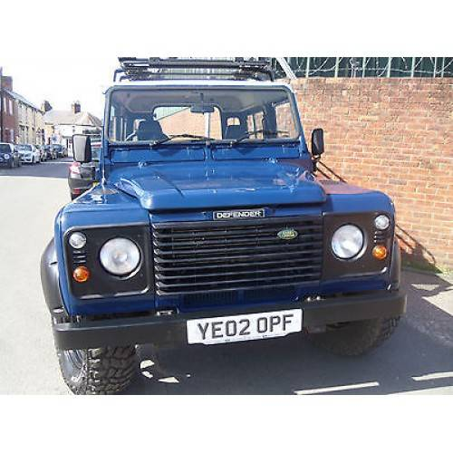 Land Rover Defender for sale in blue with new wheels