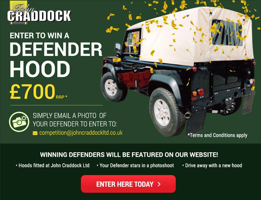 Win A Defender Hood - Enter Here