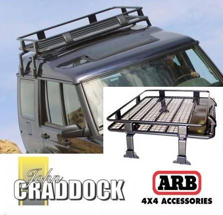 3800120: Arb Deluxe Defender/Discovery 1 & 2 Steel Roof Rack 1100 x 1350 [crossbars]