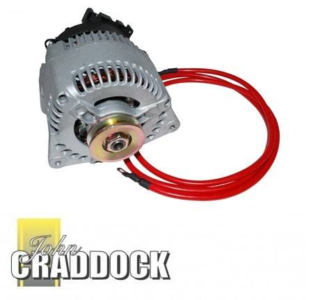 Discovery 200 TDI Alternator Upgrade 45A to 120A Includes Uprated Cable