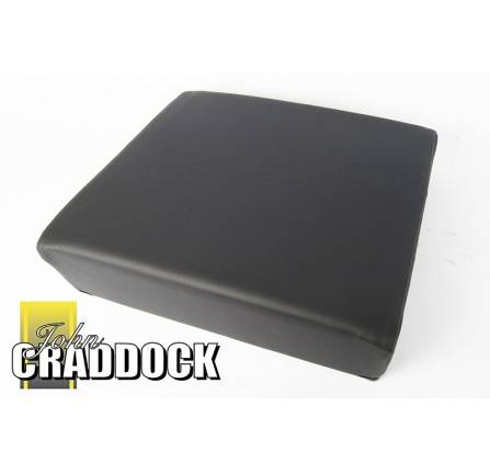 Exmoor Plain Seat Cushion Outer Black Vinyl for Series Adjustable Frame Mount