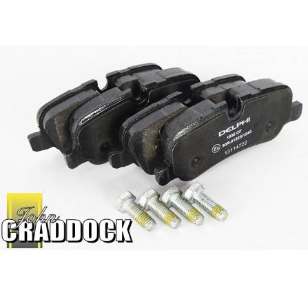 Delphi Rear Brake Pads Discovery 4 Range Rover 2010-13 R/R Sport 2010-13 with Clips