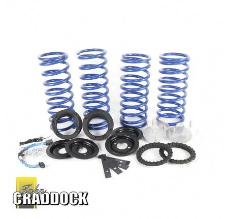 Coil Spring Conversion Kit for R/R P38 Consisting Of 4 Blue Uprated Springs Spring Isolators Spacers Spring Retainers and Electrics