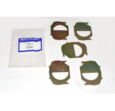 591628: Shim Rear Brake Pads Range Rover and Discovery