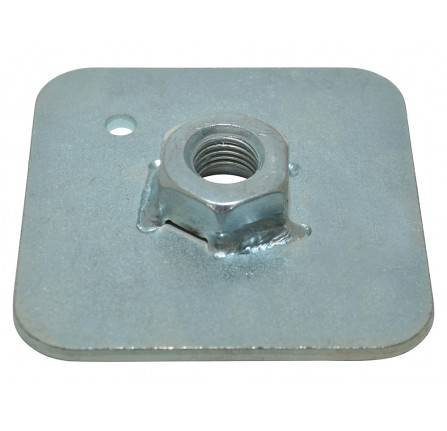 "Seat Belt Stress Plate 65mm Square Backing Plate 7/16"" Nut"
