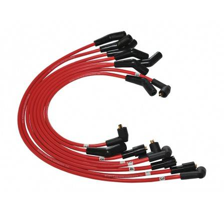 Red Silicone V8 Ignition Lead Set 8mm P38 upto 1999 and 90 4.0