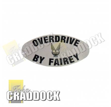 No Longer Available Fairey Overdrive Oval Decal