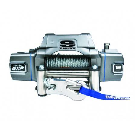 Superwinch EXP12I 12000LBS with Wire Rope & Roller Fairlead Auto Clutch, Heavy - Duty, Gearbox End Brake, Picatinny Rails, High Speed Motor, Wirless Ready, 100FT Wire Cable.