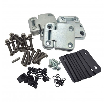 Front Door Hinge Kit Stainless Steel Fixings Torx Head Bolts