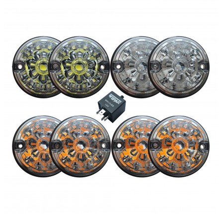 Wipac Clear Lens Led Light Kit for Defender 90/110 and Series 3