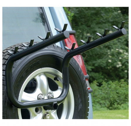 Discovery 2 Bike Rack - Holds 4 Bikes Mount to The Spare Wheel Carrier and Easy to Fit.