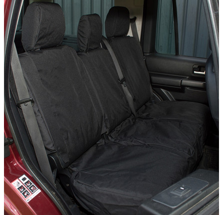 Discovery 3 Waterproof Seat Covers - Black/Rear