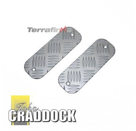 Chequer Plate Bumper Treadplate Pair Kit (Short) Anodised
