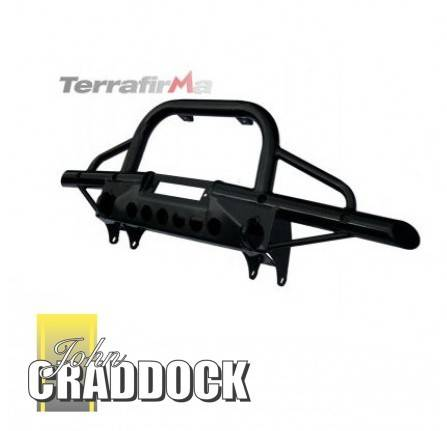 TF001: Terrafirma Tubular Winch Bumper with A Bar Defender without Air Con Includes Jacking and Recovery Points.