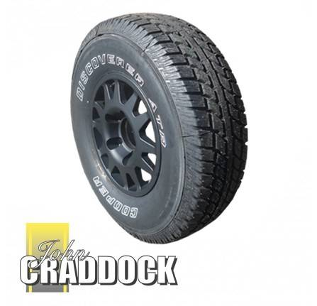APD107: Terrafirma Dakar Alloy Wheels Black 7X16 Fitted with 265/75R16 Cooper Discoverer AT3 Set Of 4 Includes Wheel Nuts and Delivery to Uk Mainland ( Restrictions Apply )