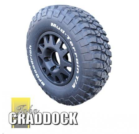 APD108: Terrafirma Dakar Alloy Wheels Black 7X16 Fitted with 265/75R16 Bf Goodrich KM2 Mud Terrain Set Of 4 Includes Wheel Nuts and Delivery to Uk Mainland ( Restrictions Apply )