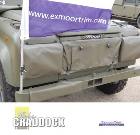 EXT244-2: RADIATOR MUFF 90/110 OLIVE GREEN MOD Approved NO DRILLING