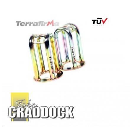 Terrafirma Skeleton Front Shock Turrets Standard Height Pair Tuv Approved -  TF504TUV