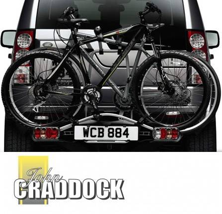 Bike Carrier Rack Tow Ball Mounted - Range Rover & Discovery 3/4