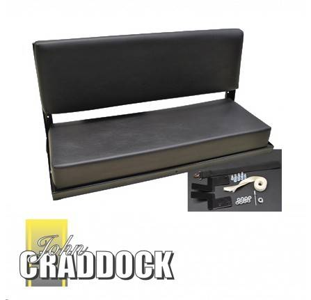 Rear Bench Seat Black Vinyl Assembley Defender/Series 2 Seater Bench.