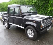 2005 Land Rover 110 Defender Td5 Double Cab County Pick Up In Black