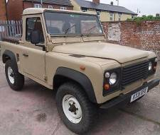 Land Rover 90 Defender 200 Tdi Truck Cab Pick Up In Sand Sold With Full MOT