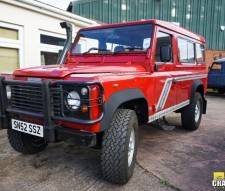 2002 Land Rover 110 Defender 2.5 Td5 Van in Red With Side Windows