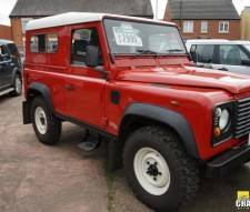 1999 Land Rover Defender 2.5 Td5 Hardtop Red With Rear Windows