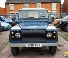 1993 Land Rover Defender 90 200 Tdi Van in Blue with White Roof