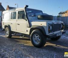 1987 Land Rover 110 300 Tdi in White with Station Wagon Body