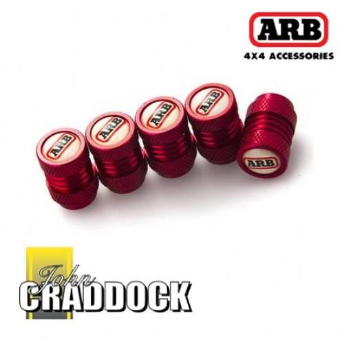 217362 Arb Tyre Valve Caps Red