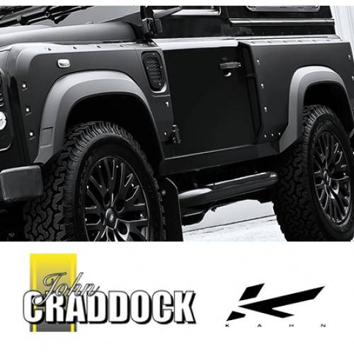 Kahn Defender 90 Wide Track Arch Kit Front and Rear Do Not Come with Side  Grill LD001