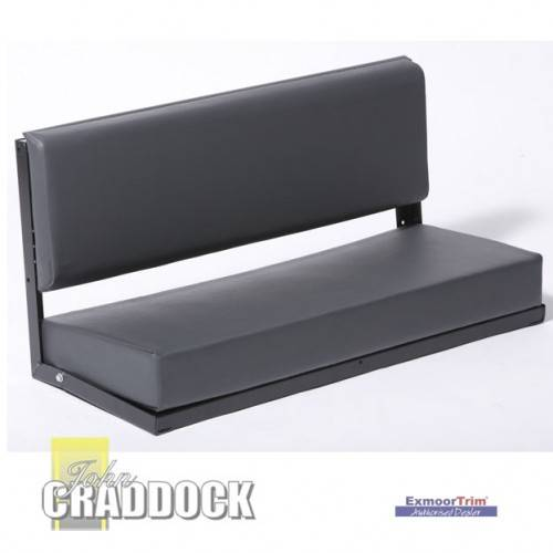 Bench Seat 2 Man in Outlast Black Canvas Black Powder Coat Frame (Back Brackets and Fixings)