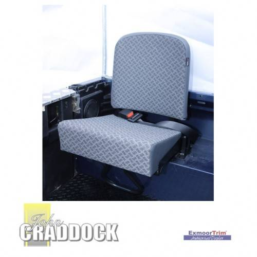Inward Facing Tip up Rear Seat in Grey Vinyl Complete Seat. State TD5 Or Other When Ordering County Style Individual Seat