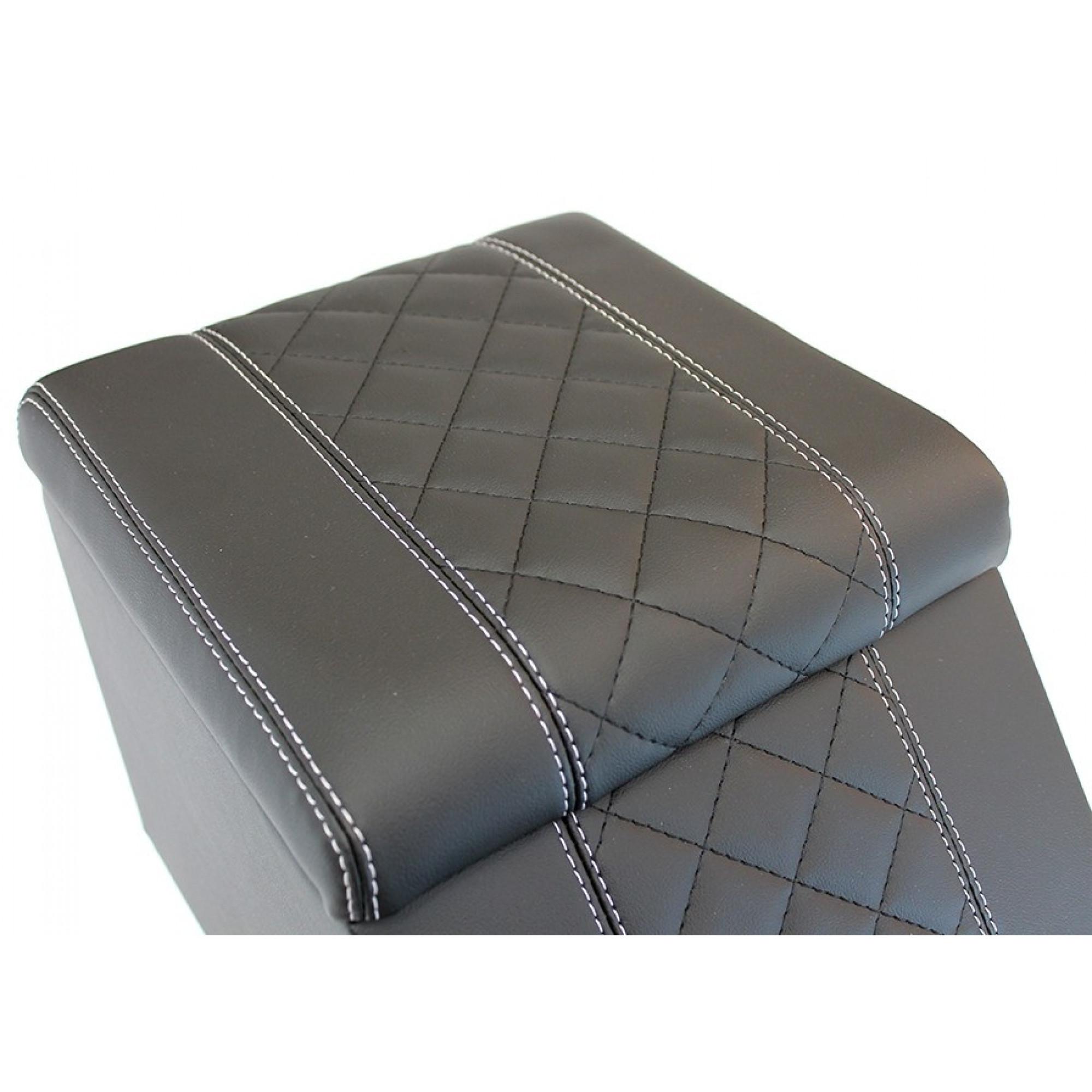 Diamond Box Xl >> Premium Xl Cubby Box Diamond Xs Black Leather White Stitch Ext024prem Dxsl