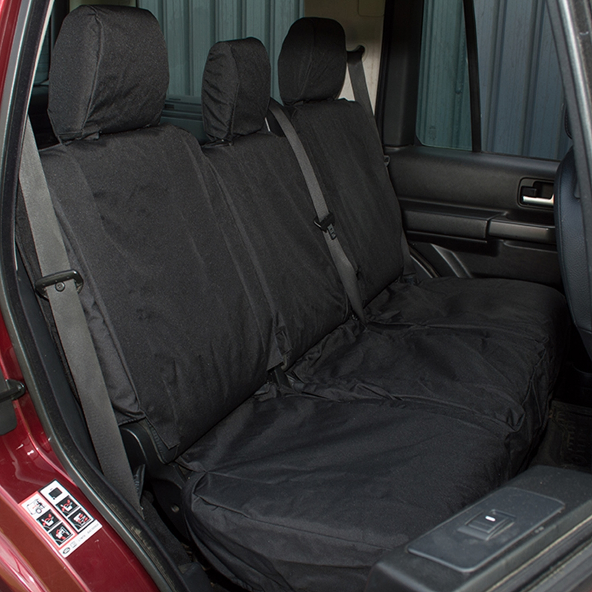 For Land Rover Discovery 3 /& 4 Front Waterproof Seat Cover Black