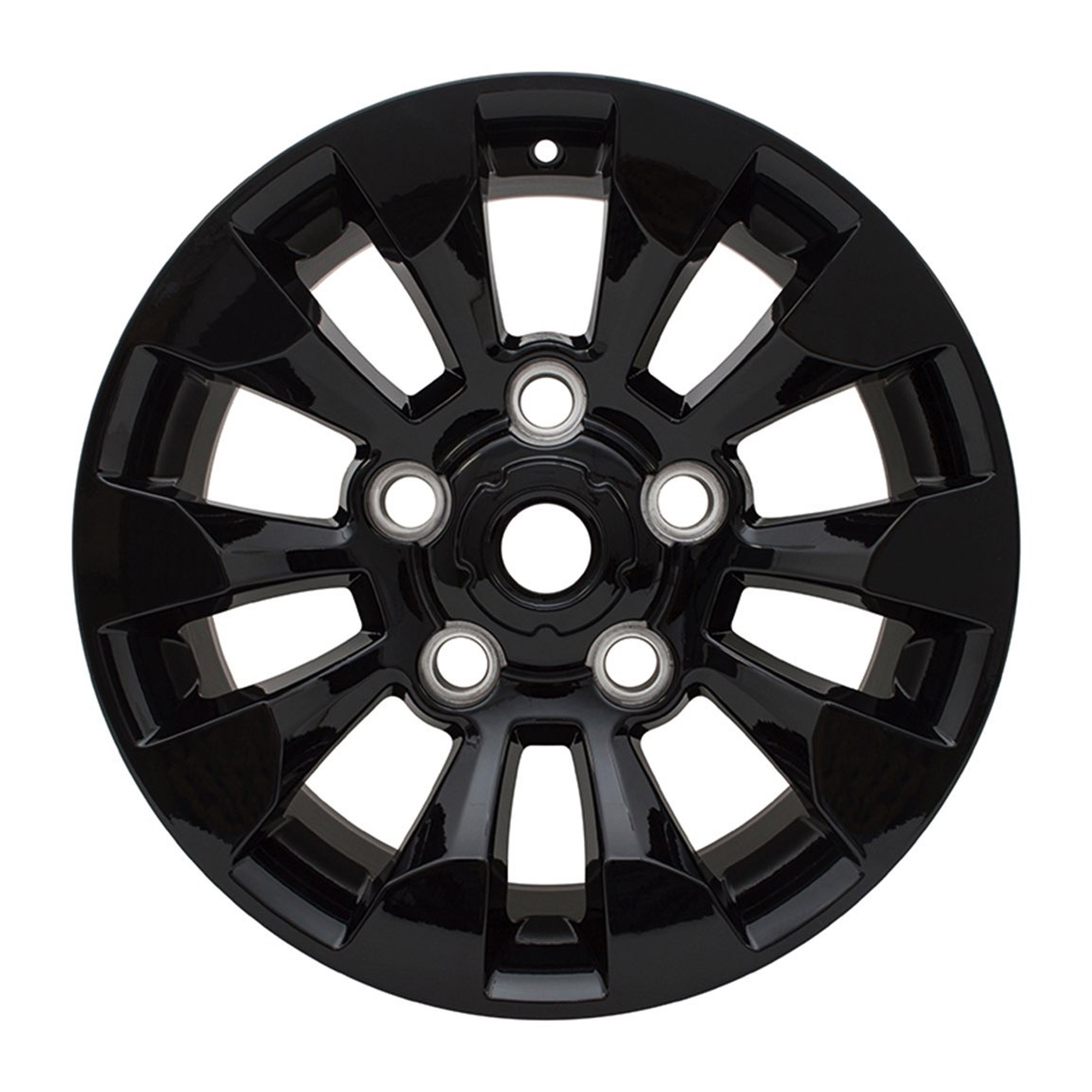 Replica Saw Tooth 8X18 Gloss Black Alloy Wheel