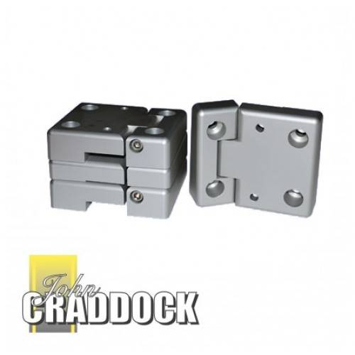 DA1131: Front Aluminium Replacement Door Hinges For Series 3 And Defender  With Stainless Steel Hinge