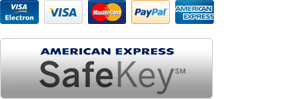 We support: Mastercard, Visa, Visa Debit, Visa Electron, Mastro, American Express and Paypal