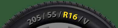 The location of the Tyre Rim Size