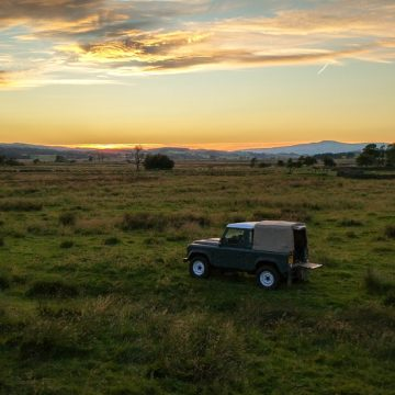 Sunset with Land Rover